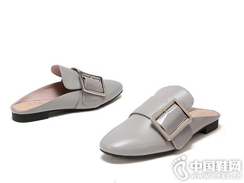 杜拉拉新款休闲平底单鞋 穆鞋半拖
