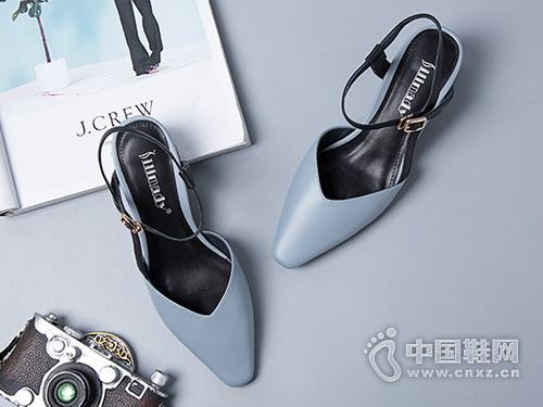斯莱曼蒂尖头单鞋女2019夏季新款