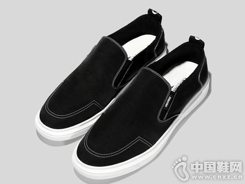 鳄鱼恤夏季男鞋帆布鞋韩版懒人鞋