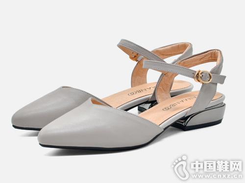 漫步佳人女鞋2019夏季新款尖头高跟鞋