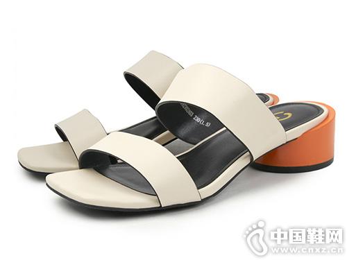 2019夏季太阳舞新条带撞色拼接拖鞋