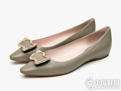 莱尔斯丹 2019新款瓢鞋尖头浅口鞋