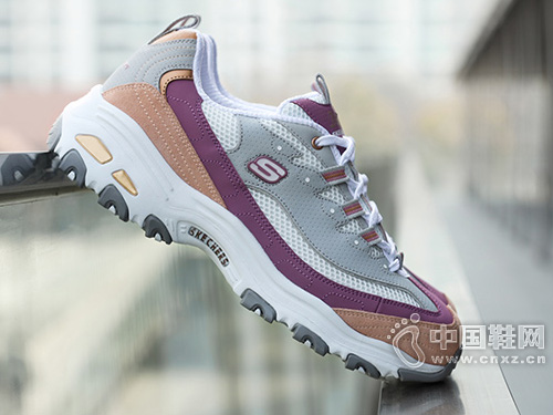 Skechers斯凯奇女鞋新款厚底增高熊猫鞋