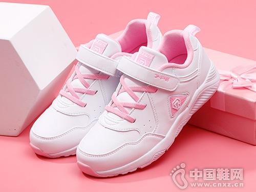 七波辉女童鞋2019新款校圆小白鞋