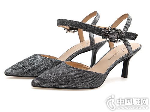 fed2019春夏新款 通勤OL 尖头细高跟凉鞋