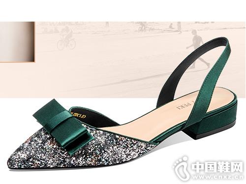 贝蒂佩琪2019新款时尚尖头平底鞋百搭