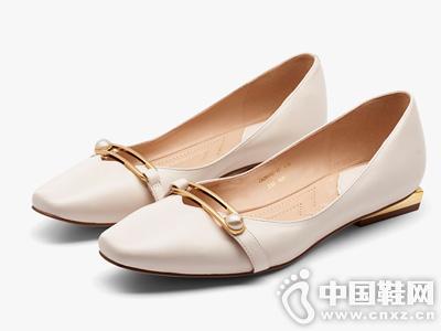 莎莎苏2019秋新款白色仙女鞋