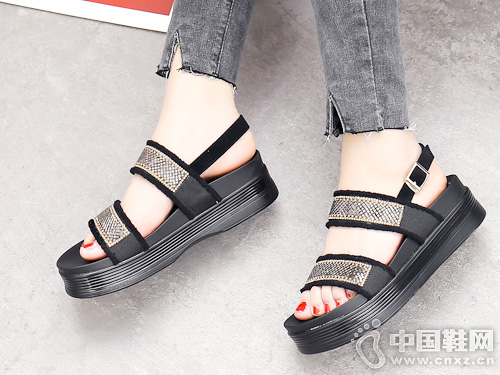 JANFIRN展风时尚2019新款女凉鞋