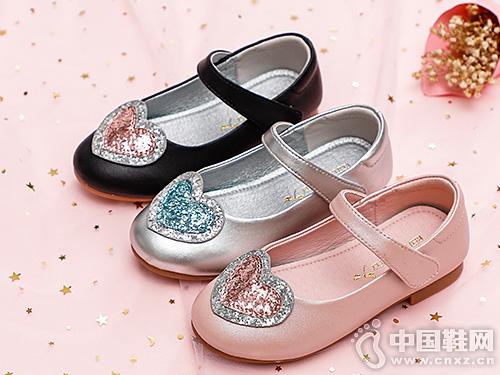 红蜻蜓童鞋2019秋季新款女童皮鞋