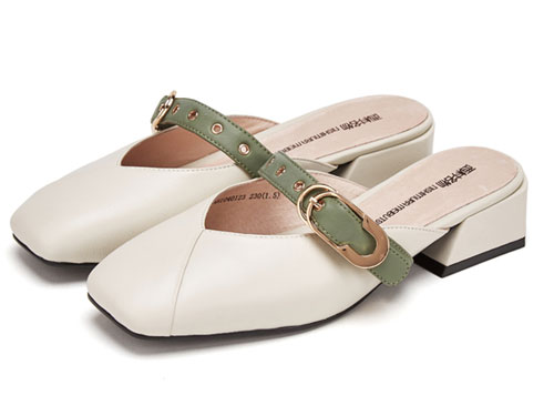 西村名物穆勒鞋女中跟2019春夏季新款