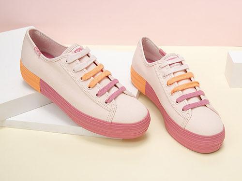Keds-彩虹底松糕帆布鞋