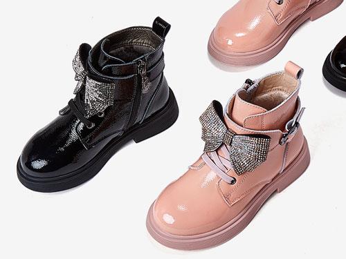 五粒豆童鞋新款甜美蝴蝶春秋短靴