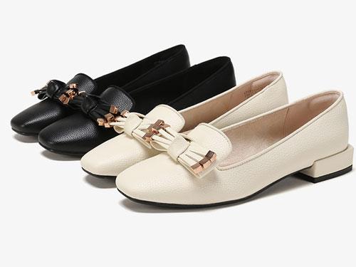 2019杜拉拉dulala浅口低跟单鞋女复古方头鞋