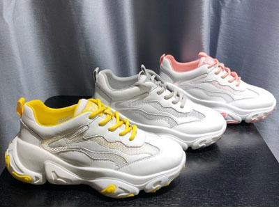 丹露女鞋2019新款全皮个性网红底舒适老爹鞋