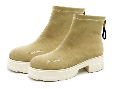 sundance太阳舞2019冬新潮简约时尚字母短靴