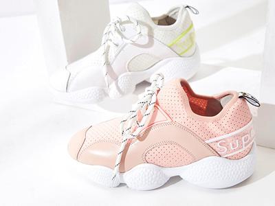 爱旅儿19年新款女鞋轻质中帮拼接女鞋