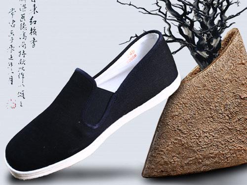 步瀛斋老北京布鞋男秋季平底一脚蹬千层底