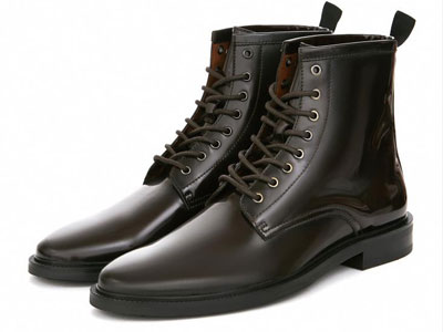 SELECTED思莱德男士牛皮革商务休闲中帮圆头皮鞋