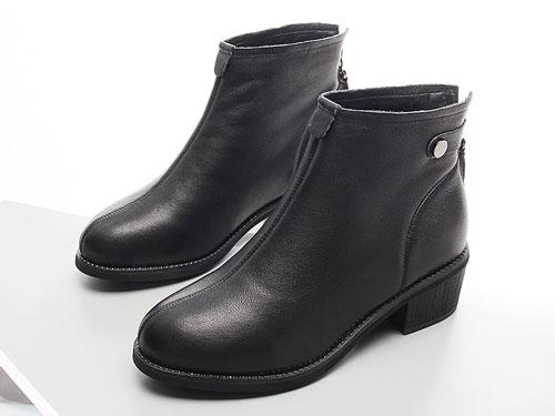 嘉俪多女鞋百搭新款英伦短靴