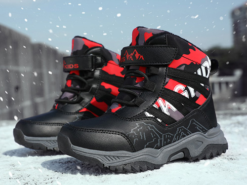 camkids雪地靴大童加绒加厚保暖短靴