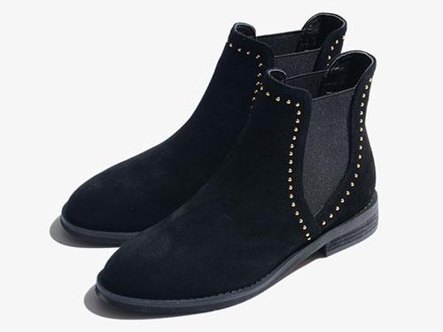度嘉班妮2019冬真皮马丁靴平跟英伦风女鞋