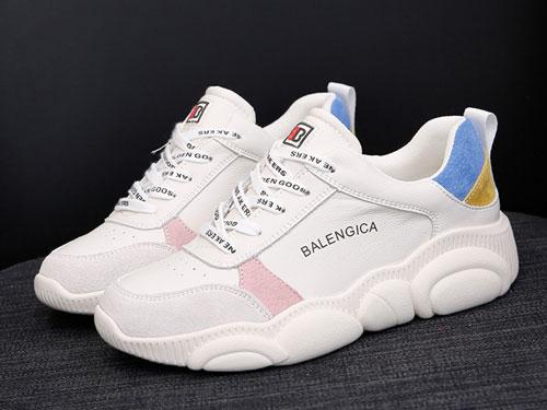 名典真皮小熊鞋韩版跑步鞋学生运动鞋小白鞋