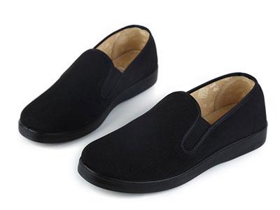 老美华冬季老北京布鞋男棉布鞋加绒保暖休闲