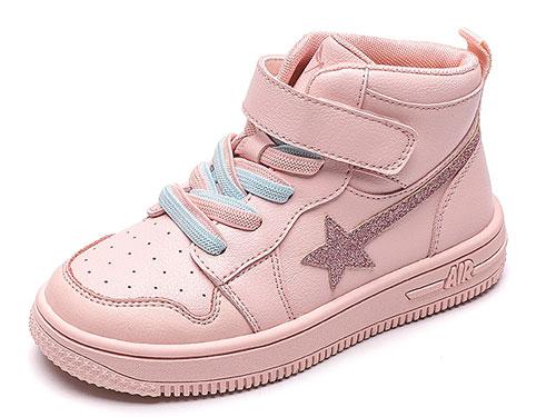 红蜻蜓童鞋2019秋冬新款女童高帮运动鞋