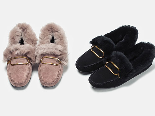 麦露迪毛毛鞋女冬款加绒豆豆鞋瓢鞋