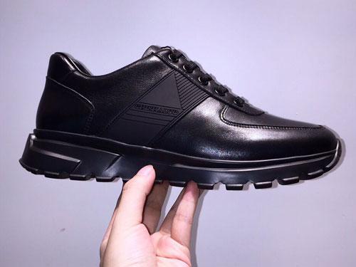 chishaluo驰莎洛19秋冬新款黑色系带运动休闲鞋