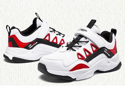 特步童鞋�和�白色�\�有蓍e板鞋2019秋季新款