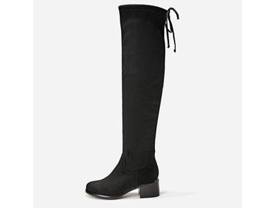 Westlink西遇女靴粗跟过膝长筒高跟长靴