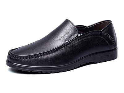 意尔康鞋2020新款真皮豆豆鞋