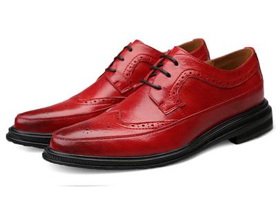 吉尔达春季正装商务男士英伦低帮休闲皮鞋