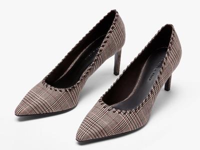 CHARLES&KEITH春夏女鞋尖头高跟单鞋