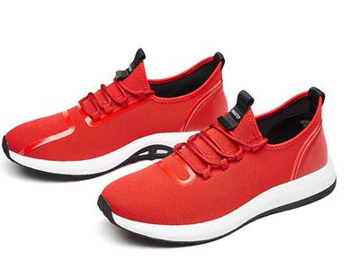 君步新款飞织鞋韩版系带跑步休闲鞋