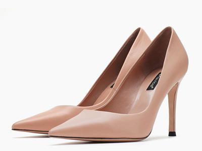 卡斯高2020春季新款上班工作鞋欧美高跟鞋