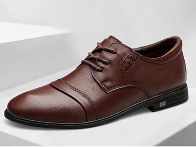 西域骆驼皮鞋防水潮流韩版商务正装皮鞋