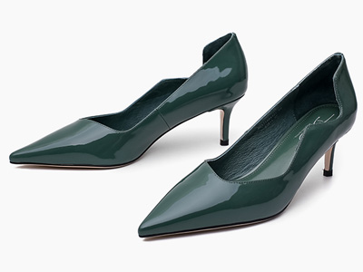 迪朵Diduo2020春款单鞋女真皮细跟浅口