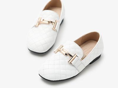 gamlon格慕隆2020新款童鞋小香风软底豆豆鞋