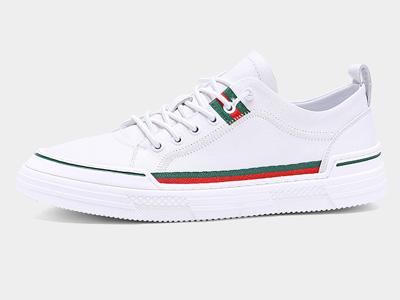 吉普森2020春夏季男鞋平底西装小白鞋