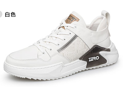 Zero零度运动休闲鞋男真皮2020春季新款老爹鞋