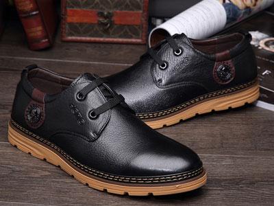红草帽休闲皮鞋系带复古皮鞋男韩版