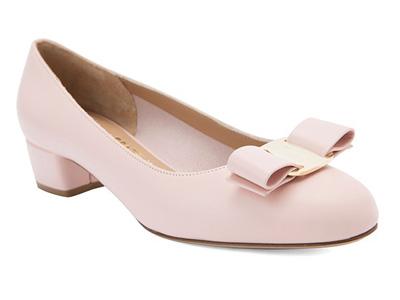 FERRAGAMO菲拉格慕牛皮革女士中跟鞋