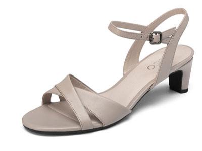 ECCO爱步凉鞋-夏季凉鞋女仙女风ins高跟鞋女