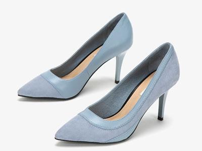 圆漾女鞋春季单鞋女性感尖头细跟浅口高跟鞋