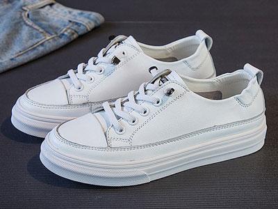 比佳妮小白鞋2020新款女鞋软皮单鞋