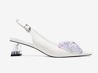 卡美多-凉鞋女水钻中跟2020夏季包头凉鞋