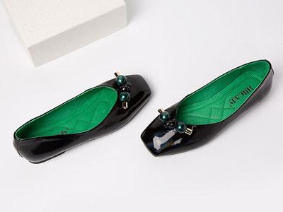 斯莱曼蒂2020春季新款蝴蝶结方头单鞋