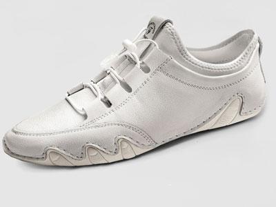 吉普盾休闲皮鞋真皮软底白色男鞋百搭潮流鞋